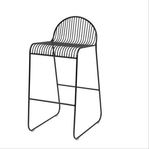 Krzesło barowe metalowe Friend, czarne - Bloomingville