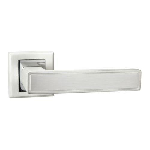 Klamka drzwiowa Schaffner Clara kwadratowy szyld perła / chrom (5907467750262)