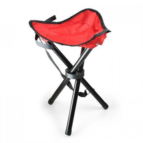 przenośne krzesło turystyczne wędkarskie czerwono-czarne 500g marki Duramaxx