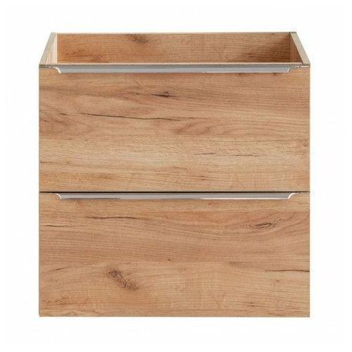 Podwieszana szafka łazienkowa pod umywalkę - Malta 3X Dąb 60 cm, CAPRI-OAK-820A