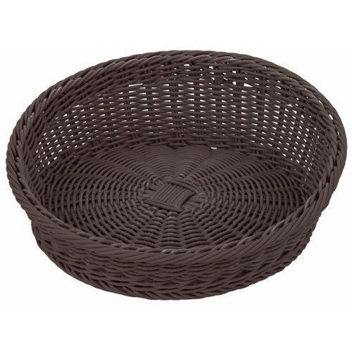 Koszyk asymetryczny z poliratanu | brązowy | śr. 31/37cm