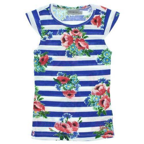 Geox T-shirt dziecięcy Niebieski Biały 6 lat
