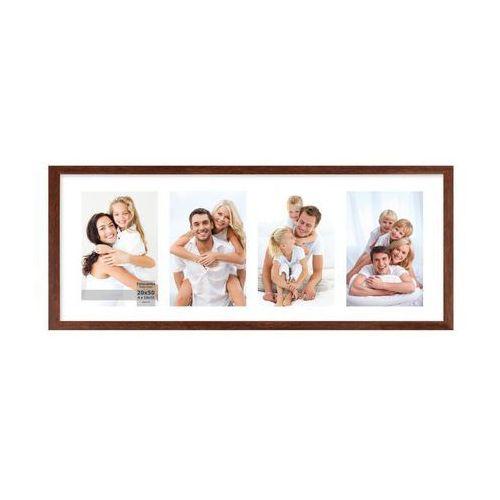 Multiramka na 4 zdjęcia 23 x 53 cm brązowa