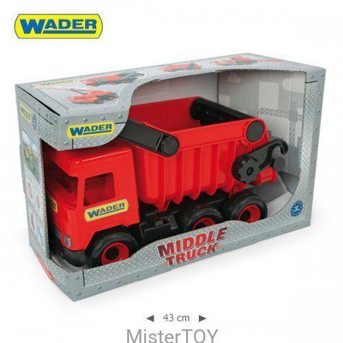 Middle truck wywrotka czerwona w kartonie - marki Wader