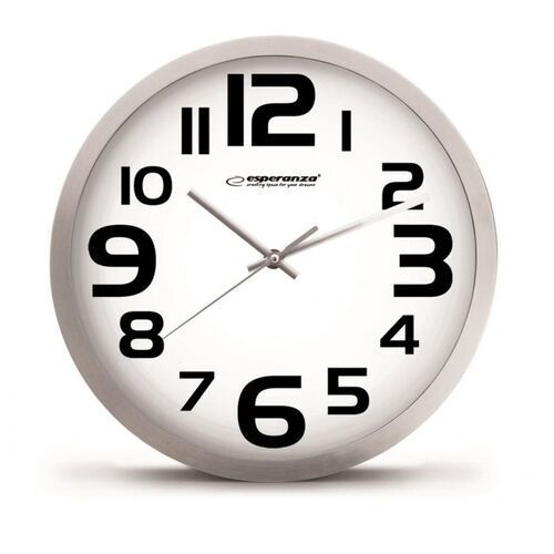 Esperanza ehc013w - 5901299929902 esperanza ehc013w zurich - zegar ścienny - biały