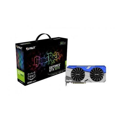 Karta graficzna Palit GeForce CUDA GTX1070 Gamerock Premium 8GB GDDR5 (256 Bit) DVI, 3xDP, HDMI (NE51070H15P2G) Darmowy odbiór w 20 miastach!