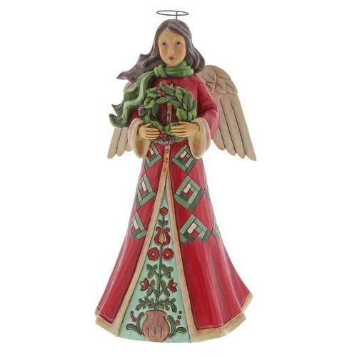 Anioł z świątecznym wiankiem Angel 6004246 Jim Shore figurka ozdoba świąteczna