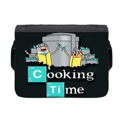 Torba na ramię duża Cooking Time 2, kolor czarny