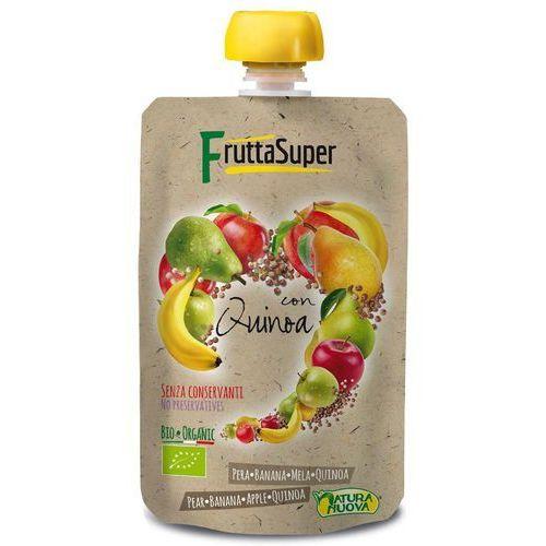 Przecier owocowy gruszka - banan - jabłko - quinoa bio 120 g - natura nuova (frutta super) marki Natura nuova (przeciery owocowe)