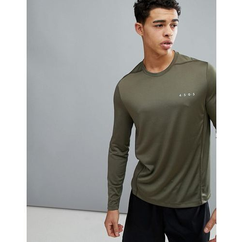 ASOS 4505 Long Sleeve T-Shirt With Quick Dry In Khaki - Green
