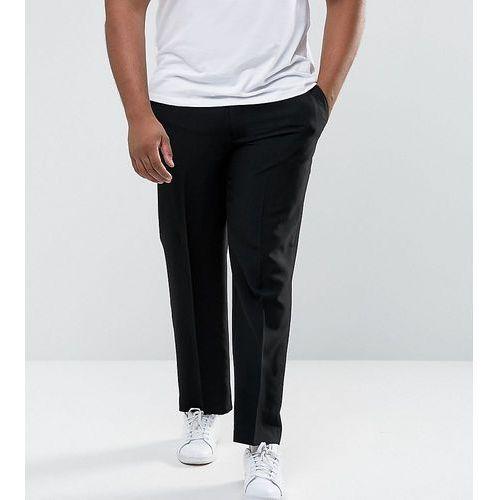 plus regular fit trouser with adjustable waist in black - black, Duke