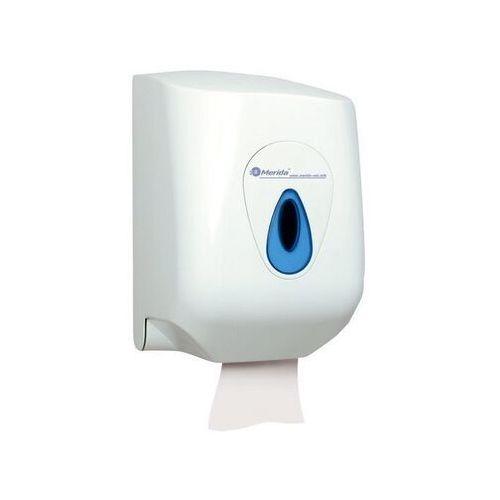 Pojemnik na ręczniki papierowe w rolach top maxi, okienko niebieskie marki Merida