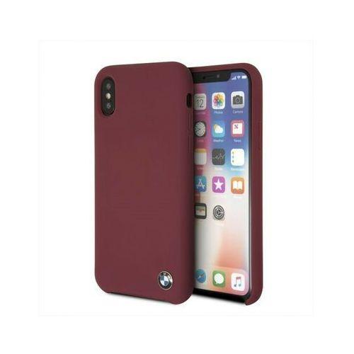 Bmw etui hardcase bmhcpxsilre iphone x czerwony silicone