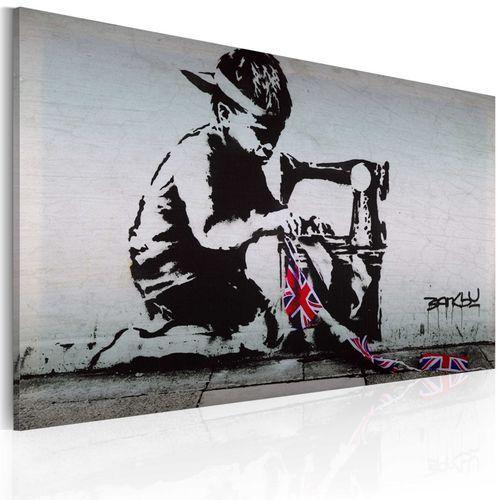 Artgeist Obraz - union jack kid (banksy)
