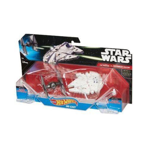 Hot Wheels SW Statek kosmiczny dwupak First Order Tie Fighter vs Millennium Falcon Starship