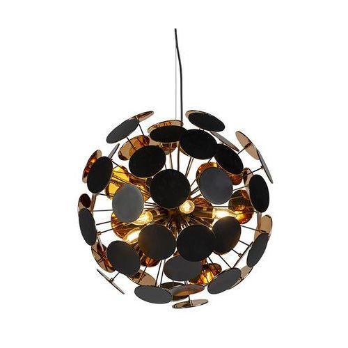 Trio leuchten Designerska lampa wisząca czarno-złota 6 punktów świetlnych - cerchio