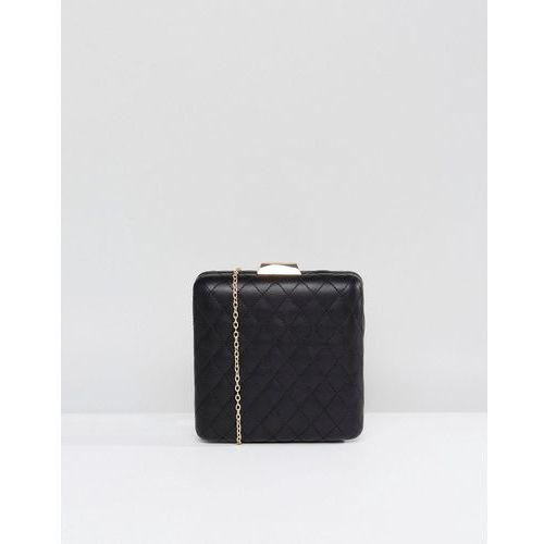 Claudia canova quilted structured clutch bag - black