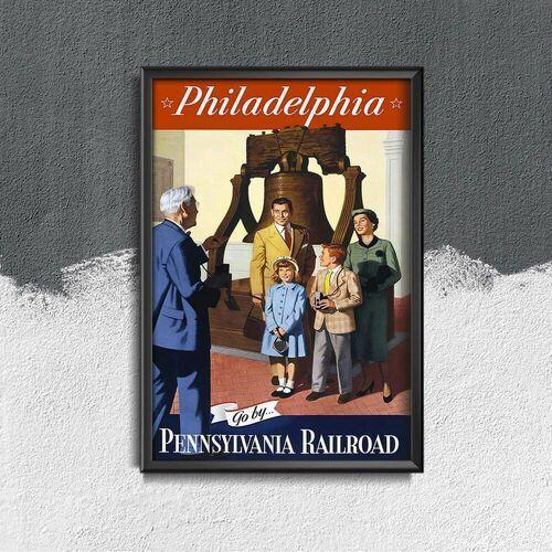 Plakaty w stylu retro Plakaty w stylu retro Philadelphia Pennsylvania Railroad