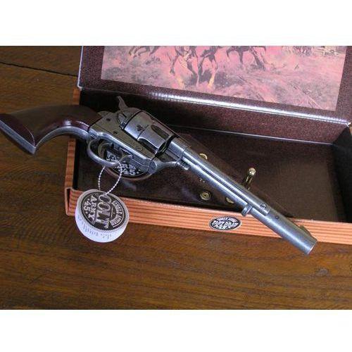 Hiszpania Długi colt peace maker z 1873 roku w pudle - naboje (k1064-1p)
