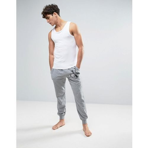 joggers cuffed ankle in regular fit - grey od producenta Calvin klein