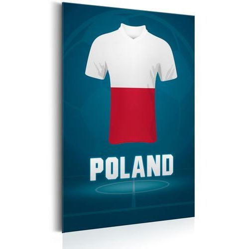 Plakat metalowy - football: poland [allplate] marki Artgeist