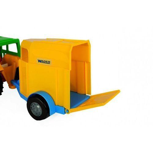 Wader Traktor z przyczepą na konia 38 cm w folii (5902002066273)