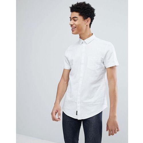 cotton linen short sleeve shirt - white, Threadbare, S-M