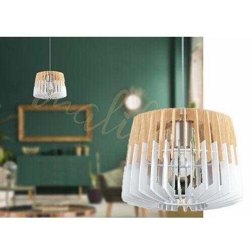Lampa wisząca w stylu skandynawskim drewno Ø30 marki Eglo