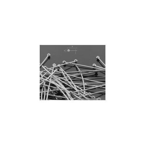 Szpilki drut 0,5 mm długość 20 mm srebro HP 0,50 20 mm