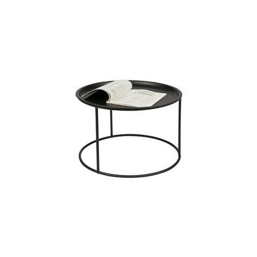 Woood :: stolik ivar duży z nakładanym blatem Ø56cm - czarny