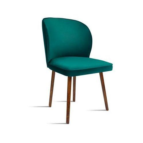 Krzesło RINO zielony/ noga orzech/ SO260, 28 dni roboczych