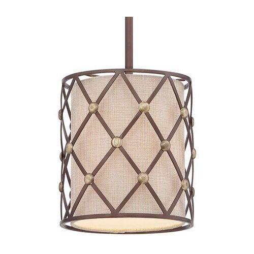 Lampa wisząca brown lattice Ø 20,3 cm marki Elstead