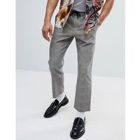 Mango Man Prince Of Wales Check Trousers - Brown