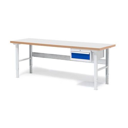 Stół warsztatowy solid, z szufladą, 500 kg, 2000x800 mm, laminat marki Aj produkty