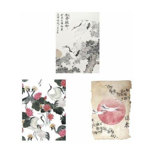 Zestaw 3 plakatów czaple 50 x 70 cm marki Art canvas