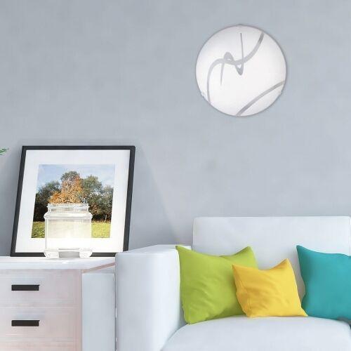 Rabalux Plafon soley led 3258 lampa sufitowa 1x12w led biały / przezroczysty (5998250332581)