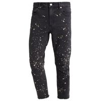 Obey Clothing NEW THREAT CUT Jeansy Relaxed fit bleached black, kolor niebieski