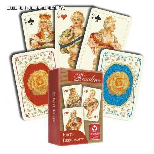 Karty pasjansowe. Rosaline 1x55 listków z kategorii Gry planszowe