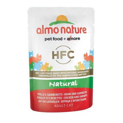 hfc natural kurczak i krewetki w naturalnym sosie 6x55g marki Almo nature