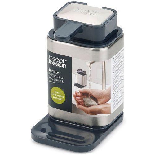 Dozownik do mydła ze stalowym mydłem Surface Joseph Joseph (85113)