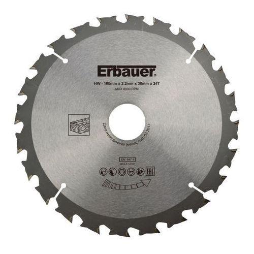 Tarcza do drewna Erbauer 190 x 30/25/20/16 mm 24T (3663602812968)