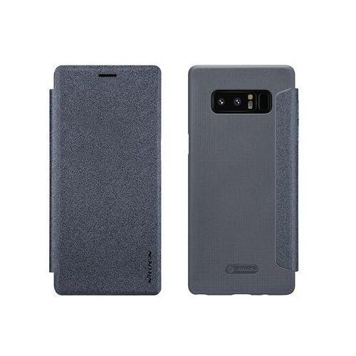 Samsung Galaxy Note 8 - etui na telefon Nillkin Sparkle - grafitowe, kolor szary