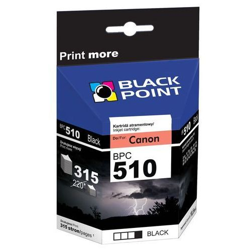 Tusz zamienny do CANON PG510 marki Black Point, black, IM323