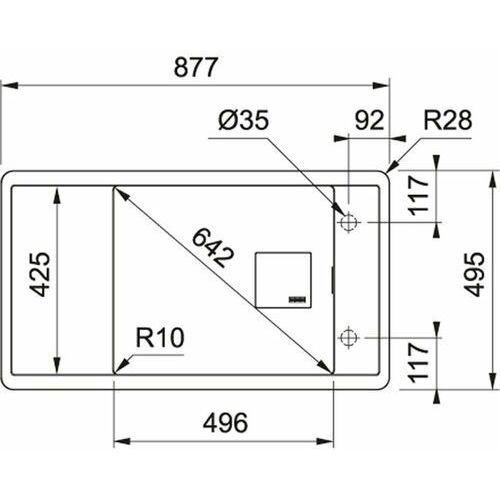 Franke FSG 611-88 Fagranit+ 114.0616.468 - Onyx (7612985842853)