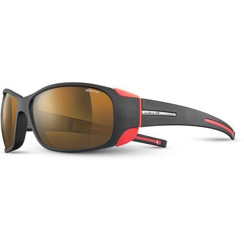 Julbo montebianco cameleon okulary przeciwsłoneczne, black/orange 2020 okulary alpinistyczne