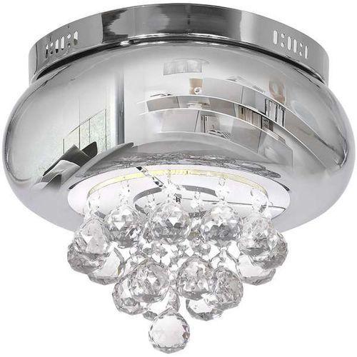 Plafon lampa sufitowa lux 0866 kryształowa oprawa okrągła led 18w crystal chrom marki Milagro