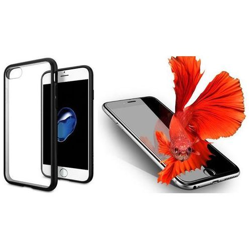 Sgp - spigen / perfect glass Zestaw   spigen sgp ultra hybrid black   obudowa + szkło ochronne perfect glass dla modelu apple iphone 7