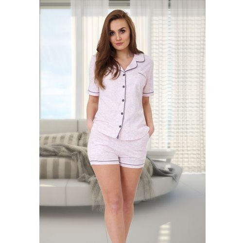 Piżama damska abigail 525 różowy/melanż, M-max