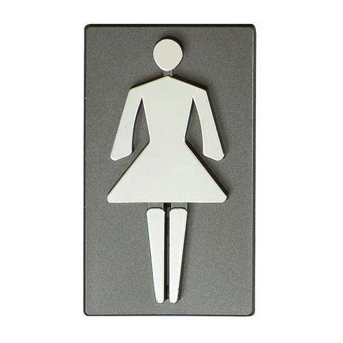 Oznaczenie WC damskie 4,7 x 8,5 cm grafit