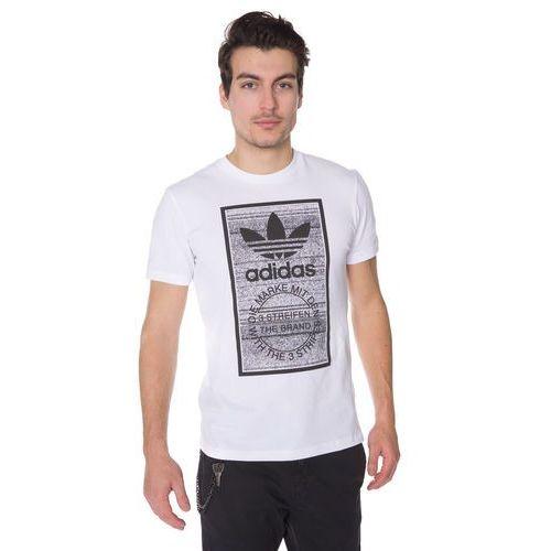 traction tongue tshirt z nadrukiem white marki Adidas originals